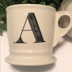 """Anthropologie Letter """"A"""" Mug"""
